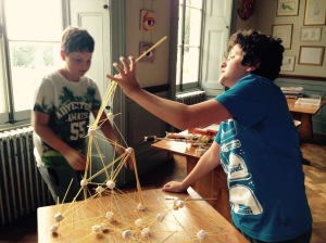 Building challenge: How high can you build with Marshmallows and Spaghetti?