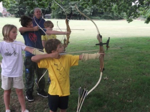 The students had a team archery competition.