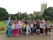 All the children enjoyed the beautiful Abbey Gardens.