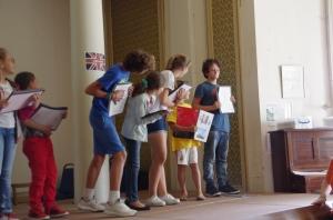 Freya's class on stage