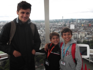 Oliver, Freddy and Alfredo on the London Eye