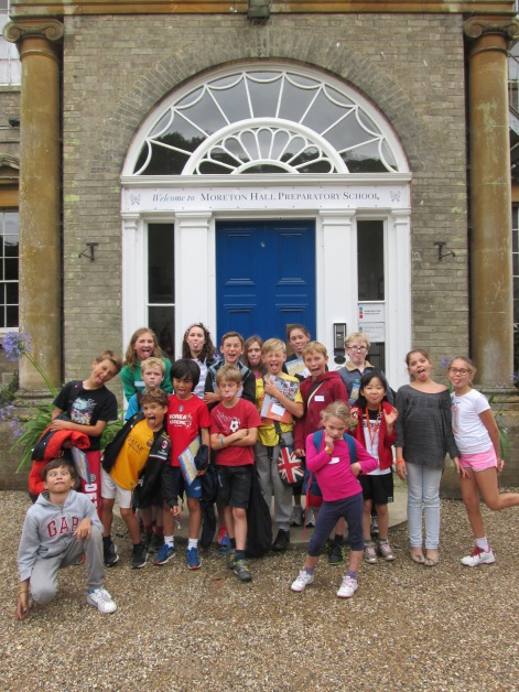 The Moreton Hall students said goodbye to the Saffron Walden students at the end of the day.