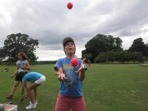 Nikita juggling